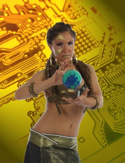 Fayzah – Android Goddess – Photo – Scott Schuster – Graphics – Sharif Waits