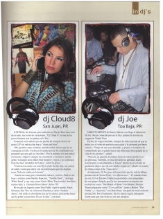Fayzah (aka DJ Cloud 8) in issue of Latin Hop magazine - article - Puerto Rico