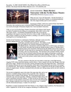 iDANZ-NEWS-Review - Fayzah photo - Neville Dance Theater's Nutcracker
