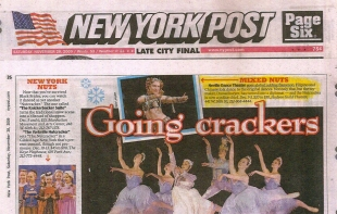 Fayzah - Cover of New York Post - with Neville Dance Theater